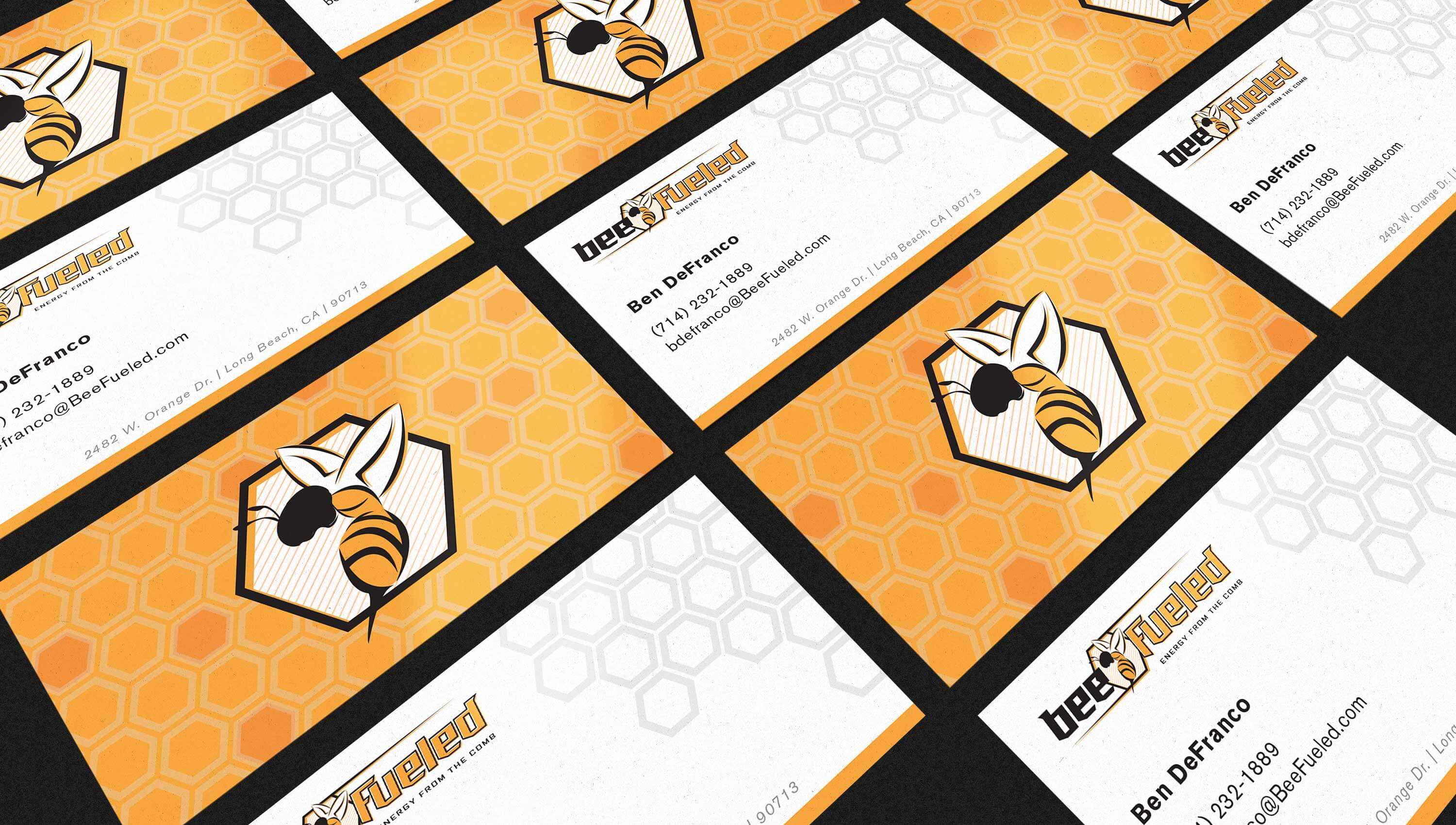 Bee Fueled business cards.