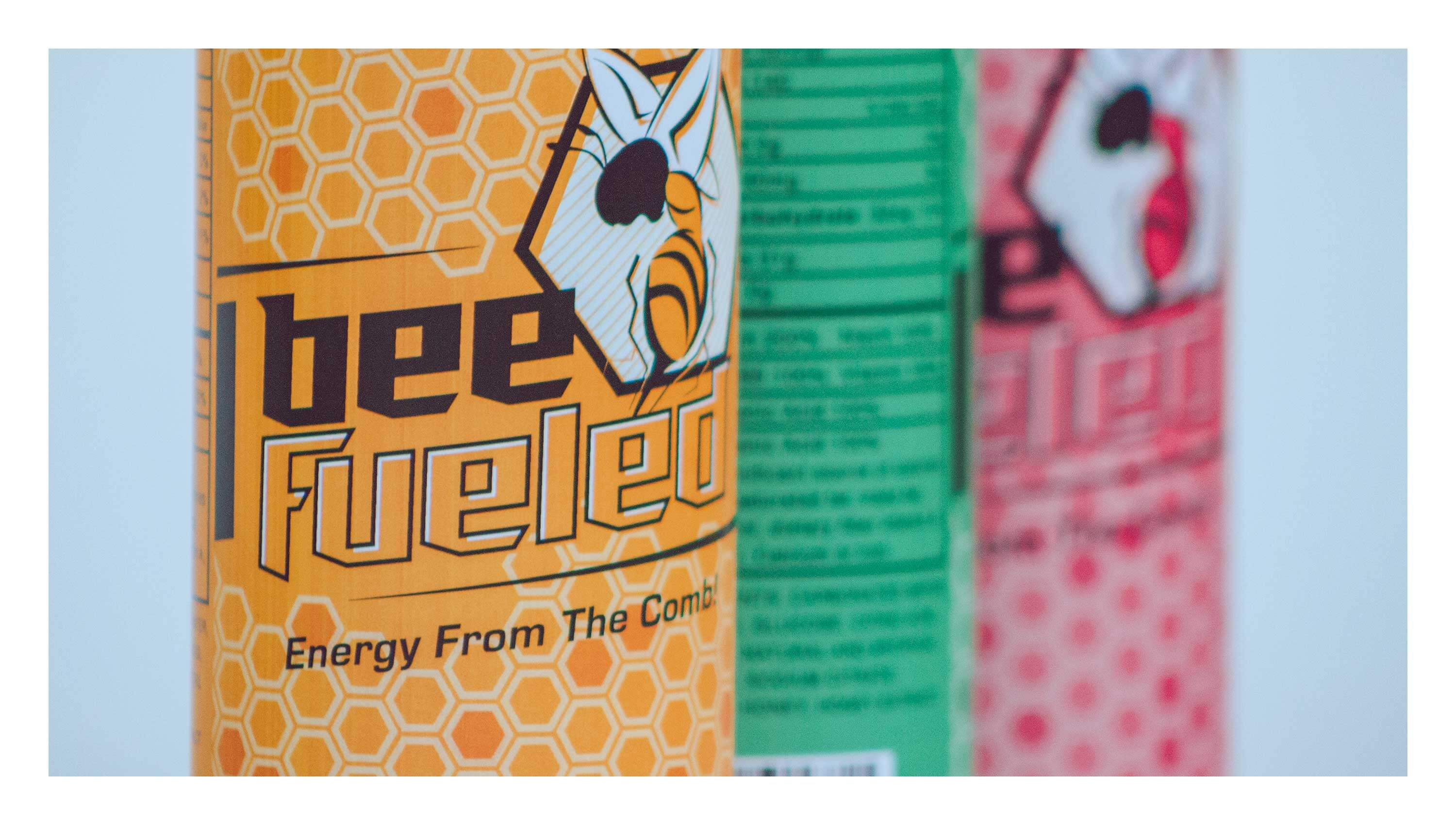 Bee Fueled can packaging.