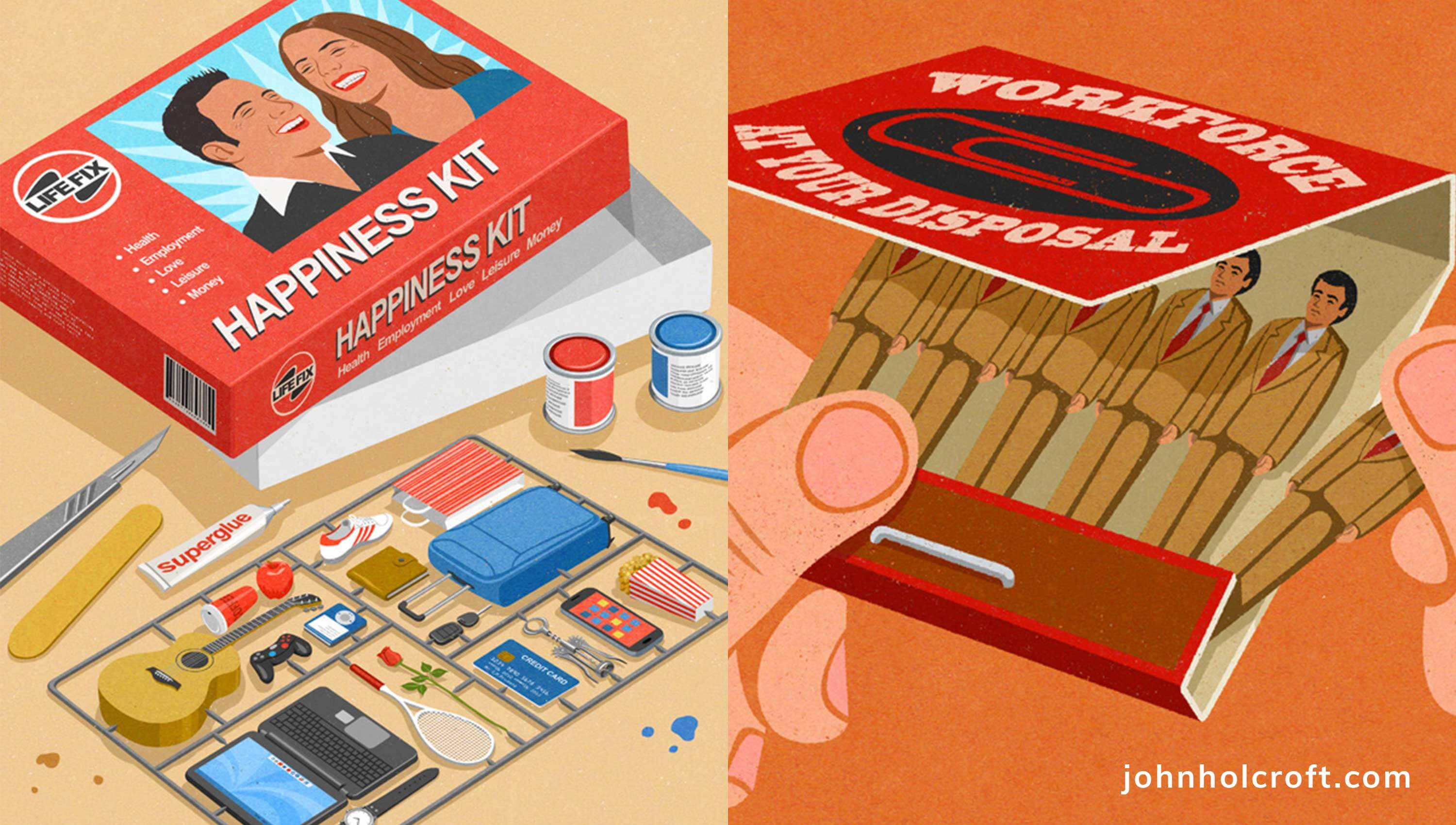John Holcroft illustration examples.