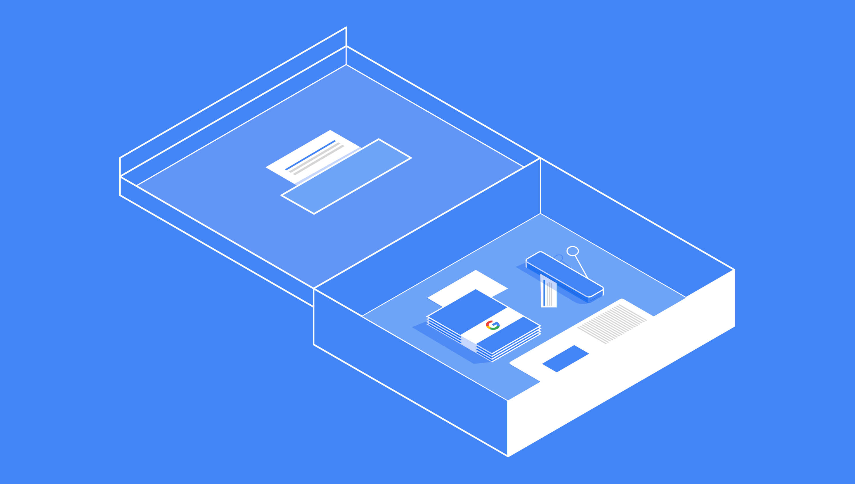 Google illustration for box concept one