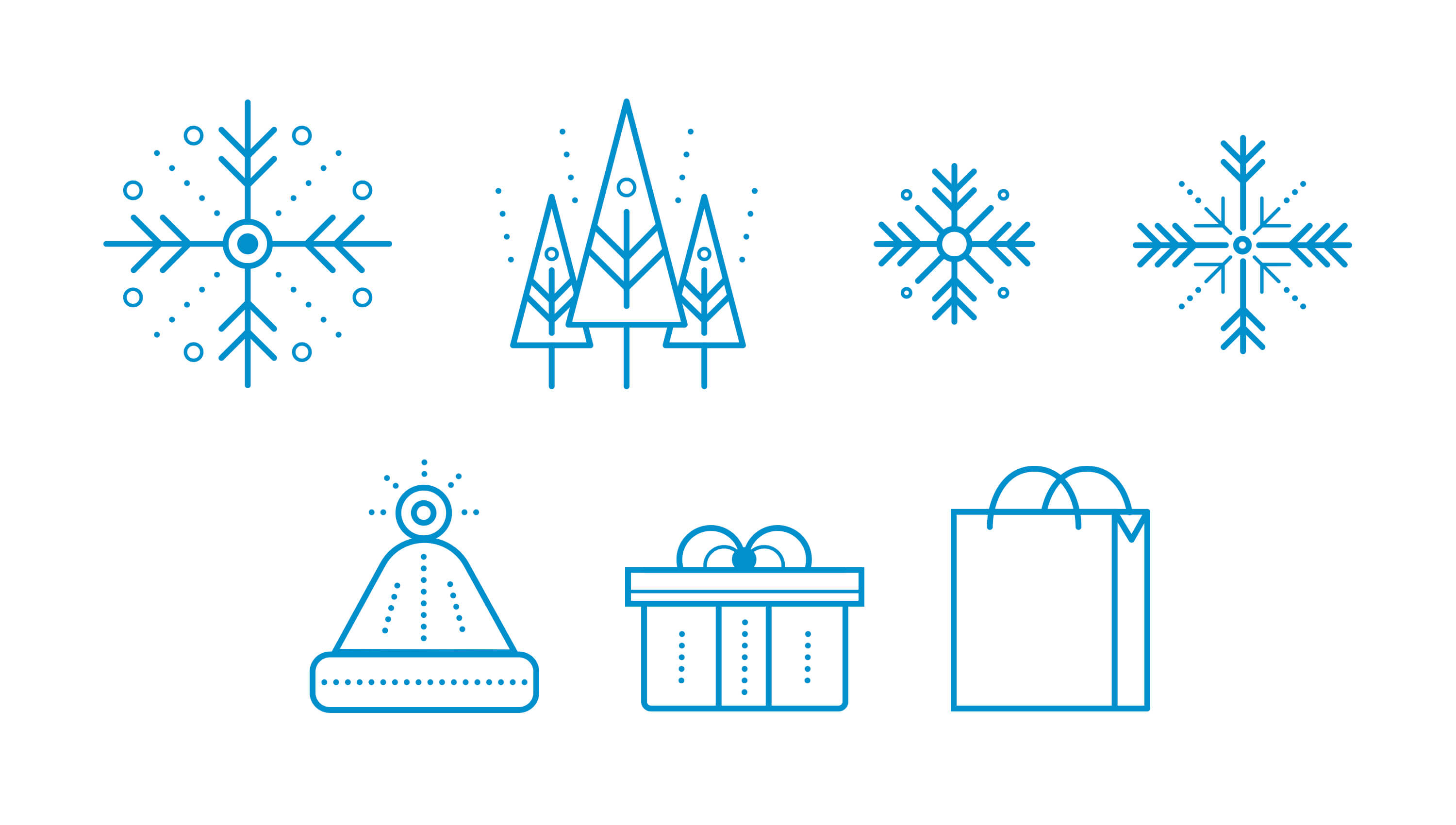 Google icon illustration for holiday box collateral